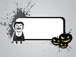 halloween frame with pumpkin on the background royalty free stock