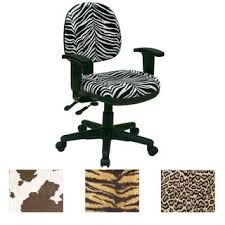 Animal Print Desk Chair Linon Violet Office Chair Brown Print Free Shipping Today