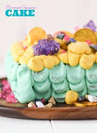 mermaid treasure cake