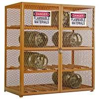 Horizontal Storage Cabinet Industrial Safety Cylinder Storage Cabinets