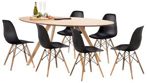 betty dining table set with 6 replica eames chairs temple u0026 webster