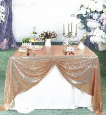 soardream 108 inch round rose gold sequin tablecloth wedding table