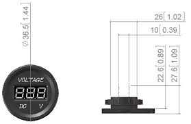 dc 12v digital voltmeter waterproof chargers outlet socket boat
