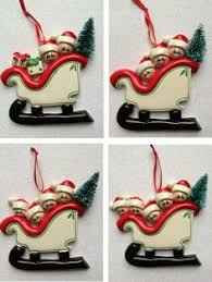 snow shovel family personalised christmas tree decoration 9 00