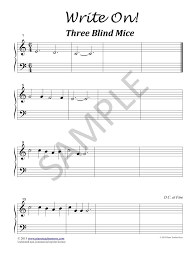 Three Blind Mice Notes For Keyboard Piano Pedagogy Blogging At Piano Teacher Press
