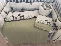 Crib Bedding Sets Boy 8pcs Organic Cotton Crib Bedding Set Boys Girls Cartoon Deer