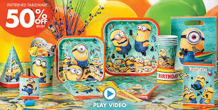 minions party supplies a simply unforgetable party shop