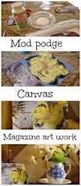 mod podge kitchen diy art on canvas debbiedoos