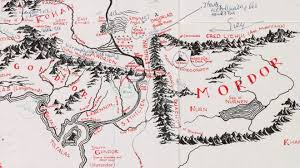 a map of middle earth jrr tolkien s annotated middle earth map at bodleian news