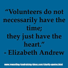 volunteers do not necessarily the time they just the