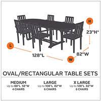 Patio Table Size Classic Accessories Ravenna Bistro Patio Table