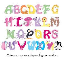 themed letters personalised door sign or plaque for animal alphabet door