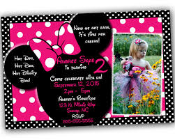 sale minnie mouse invitationwith free thank you card minnie