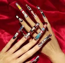 easy nail art characters horror movie character nail art all nail art gallery