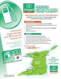 prepaid gas card e unipet prepaid gas card