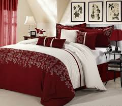 Bedroom King Size Bed Comforter by Amazing Luxury Bed Set With Red Leaves King Comforter Set Leaves