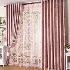 elegant blackout pink thicken jacquard bedroom curtain buy pink