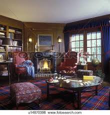 Curtains With Red Pictures Of Family Room Paneled Walls Fireplace Dark Blue