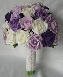 purple and grey wedding flowers
