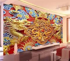 custom 3d photo wallpaper living room mural golden wood