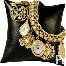 anne klein charm bracelet watches images Anne klein watch 8096chrm gypsy gold swarovski charm bracelet jpg