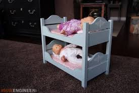 Woodworking Plans Doll Bunk Beds by 18in Doll Bunk Beds Rogue Engineer