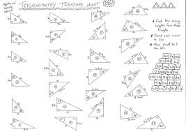 trigonometry treasure hunt finding missing sides by dandavies8