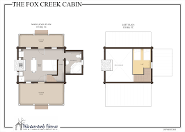 Cabin Floor Plan by The Fox Creek Cabin Winterwoods