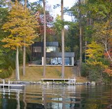 Gallery Of Cantilever Lake House Birdseye Design 10 House