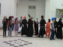 access students celebrating halloween access sfax