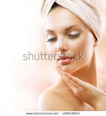 Beuti by Spa Woman Beautiful After Bath Stock Photo 108948605