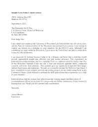 cover letter clerkship judicial clerkship cover letter sle guamreview