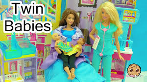 dr barbie baby doctor twin babies born medical doll