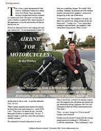 another opportuity to purchase airbnb the airbnb for motorcycles california business journal
