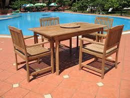 amazon com 7pc teak wood patio dining set patio lawn u0026 garden