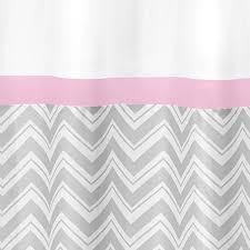 Pink Chevron Curtains Zig Zag Pink U0026 Gray Shower Curtain Sweet Jojo Designs Zig Zag