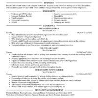 nice template of nanny job resume example featuring qualifications