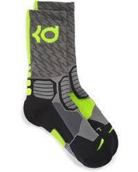 Nike Hyper Elite Quarter Socks Nike U0027hyper Elite U0027 Cushioned Crew Socks In Gray Lyst