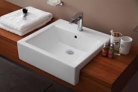 semi recessed bathroom sinks 51cm semi recessed basin 1 hole semi recessed