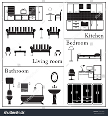 home furniture icons set living room stock vector 227317057