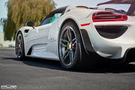spyder porsche porsche 918 spyder with a unique set of rims