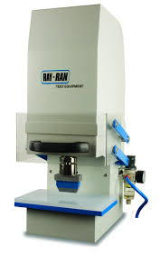 tensile strength stress strain testers testing machines inc pneumatically operated test sample cutting press