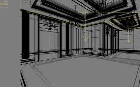 Artistic Lighting Posh Elevator Space With Artistic Lighting 3d Model Max