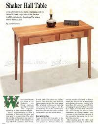 shaker end table plans shaker hall table plans woodarchivist