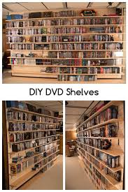 Dvd Shelf Woodworking Plans by Best 25 Diy Dvd Shelves Ideas On Pinterest Dvd Storage Shelves