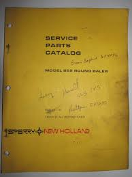 buy new holland 852 round baler parts catalog book manual 5085212