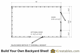 Storage Building Floor Plans 10x16 Short Shed Plans 8 U0027 Tall Storage Shed Plans Icreatables
