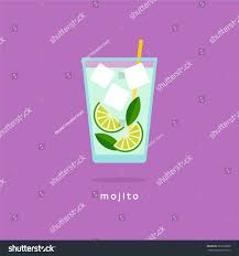 purple cocktail abstract vector illustratiob mojito cocktail flat stock vector