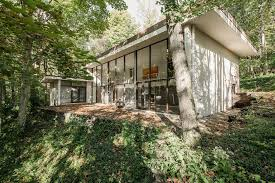 Evans Properties Cottage Grove Wi by 50s Modernist Masterpiece With Two Story Glass Wall Asks 400k