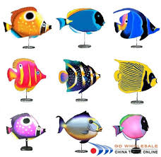 add tropical fish accents a string of fish around each table or